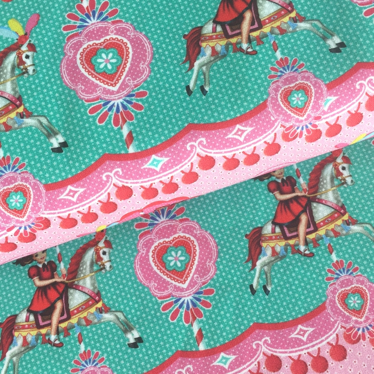 BAUMWOLLE FAIRGROUND GIRL - MINT ROSA