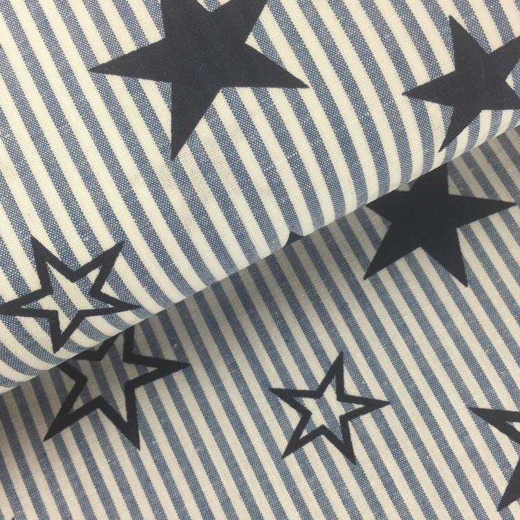 BAUMWOLLE STARS AND STRIPES - BLAU