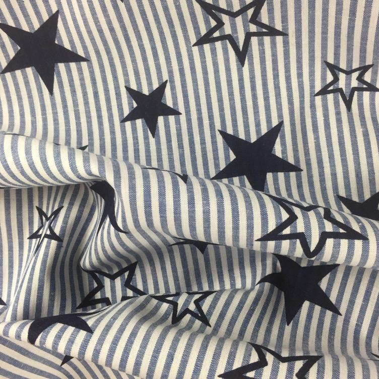 BAUMWOLLE STARS AND STRIPES - BLAU - 0
