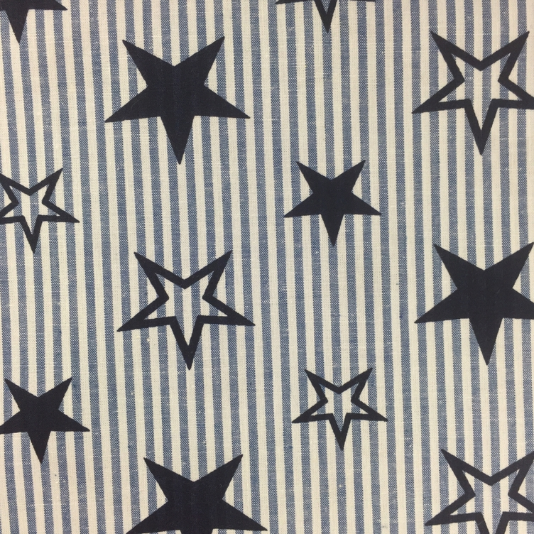 BAUMWOLLE STARS AND STRIPES - BLAU - 1