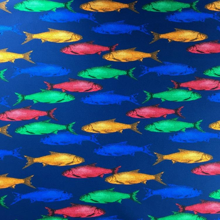 CANVAS PRINT GOLDFISH - BLAU - 0