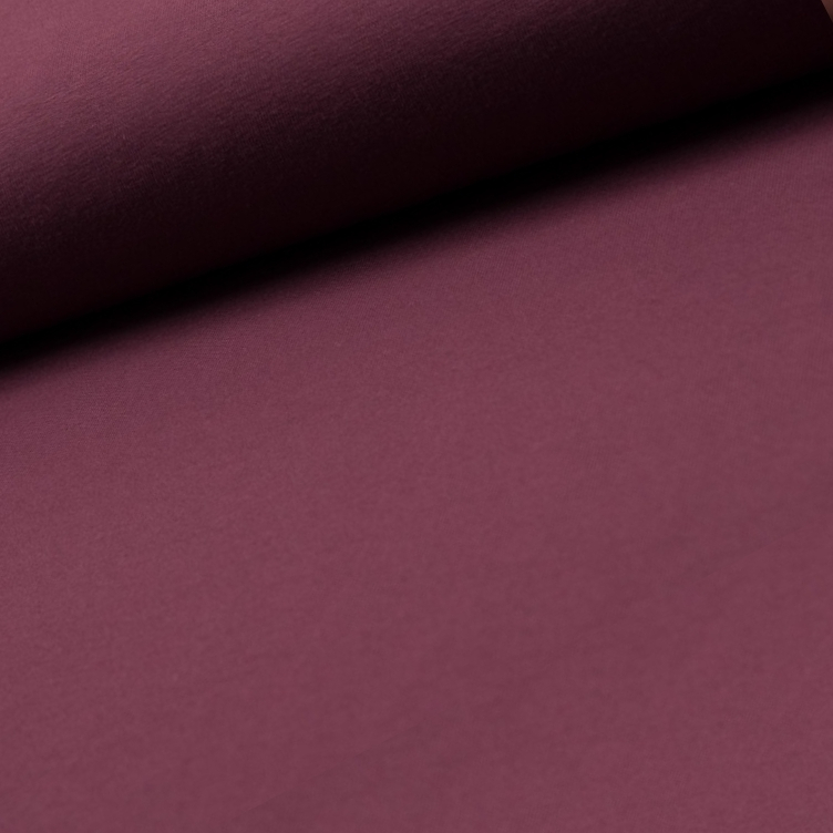 BAUMWOLLJERSEY - DUSTY BORDEAUX