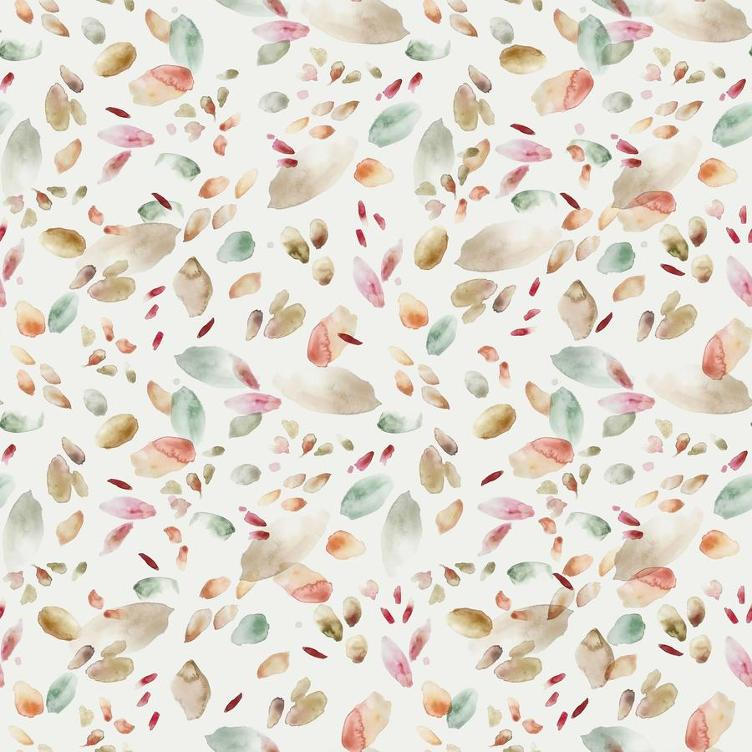 BAUMWOLLJERSEY FAMILY FABRICS ABSTRACT LEAVES JERSEY - BEIGE