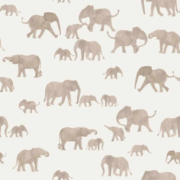 FRENCH TERRY FAMILY FABRICS DESIGN - ELEPHANTS