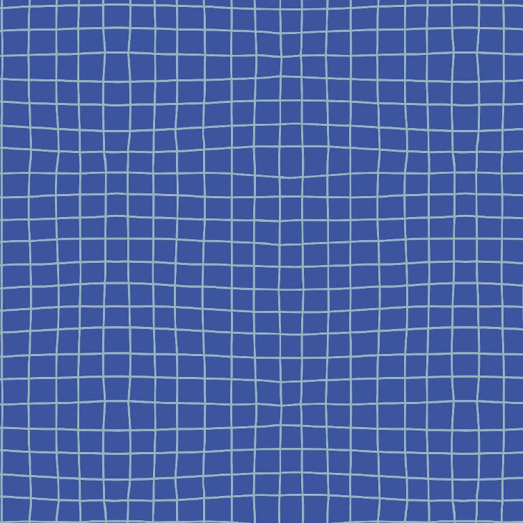 FRENCH TERRY SOMMERSWEAT FABRICS & FRIENDS GRID BLUE