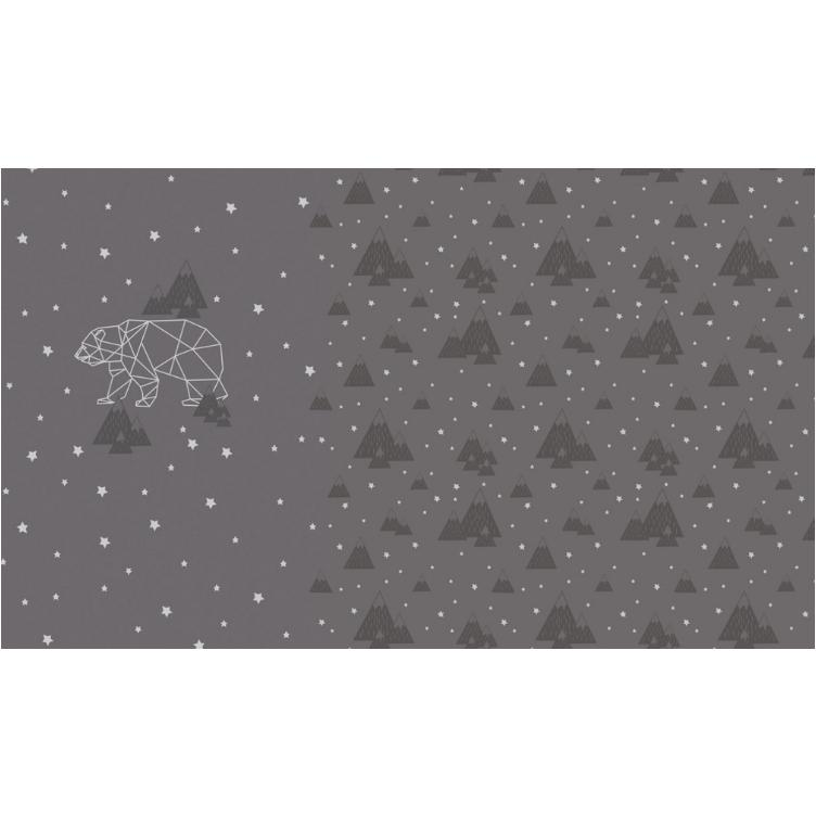 PANEL FRENCH TERRY BEAR FOIL - GRAU - 1