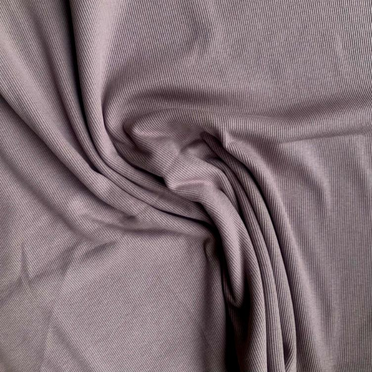 PURPLE DOVE SOLID RIB JERSEY FAMILY FABRICS