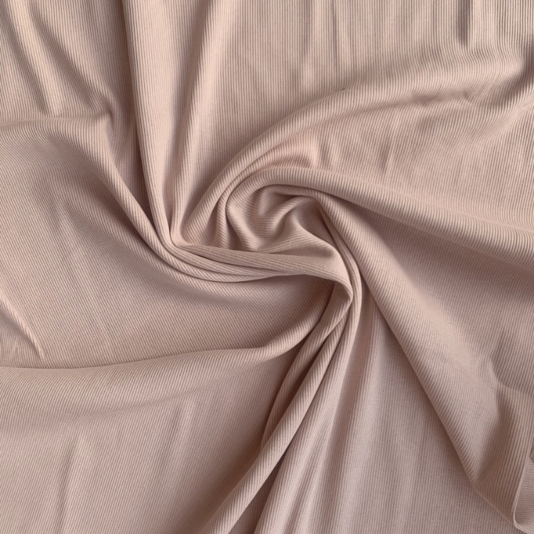 SHADOW GREY SOLID RIB JERSEY FAMILY FABRICS