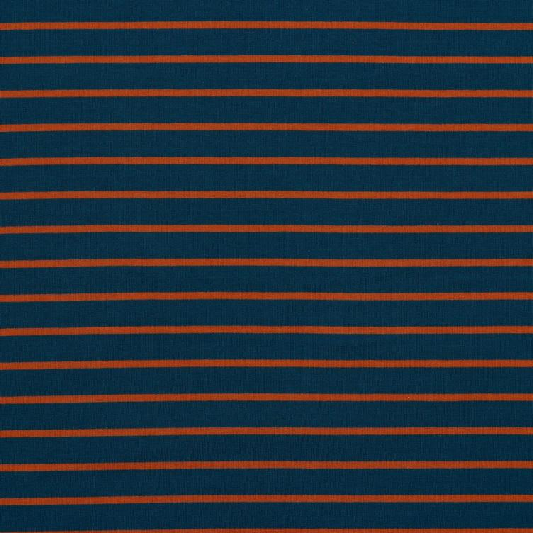 YARN DIED FRENCH TERRY SOMMERSWEAT STRIPES - JEANS / TERRY